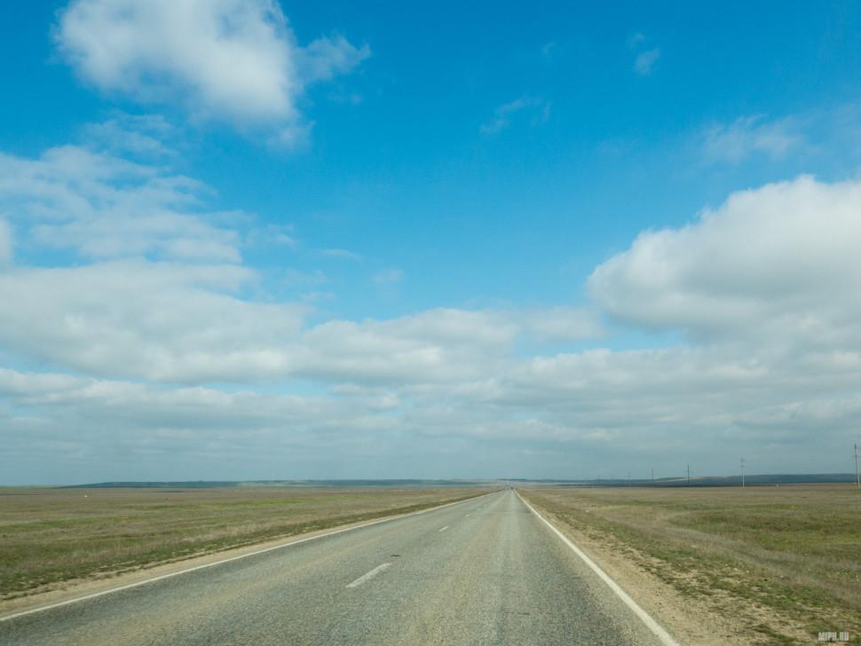 Шикарные степные дороги